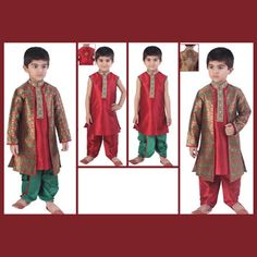 #Maroon and Green #Pajama and Dhoti