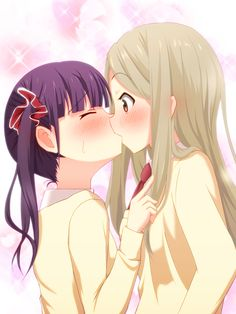 Sakura Trick, Noda Kotone, Minami Shizuku, Kiss On The Lips, Yuri