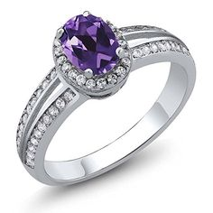 Sterling Silver Genuine Purple Amethyst Womens Ring 095 cttw Available in size 5 6 7 8 9 ** Want to know more, click on the image.Note:It is affiliate link to Amazon.