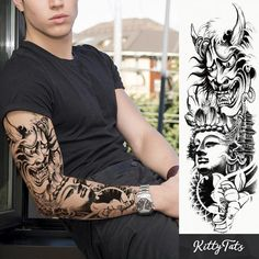 Lotus Dream Japanese Forearm Tattoo, Japanese Sleeve Tattoos, Forearm Tattoo Men, Full Hand Tattoo, Hand Tattoos, Angel Tattoo Designs, Tattoo Sleeve Designs, Tiger Tattoo, I Tattoo
