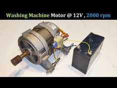 Run a Washing Machine Motor at DC ( UPS Battery ) - Full Explanation, Wiring, Connections Diy Electronics, Electronics Projects, Domestic Wiring, Alternator Repair, Basic Electrical Wiring, Washing Machine Motor, Electric Bike Kits, Motor Generator, Universal Motor