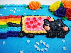 Nyan Cat GIF File | Nyan Cat Cake – Old School Style – Jillian Cupcake