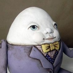 Humpty Dumpty Contemporary Folk Art Doll Egg Sculpture OOAK - another wonderful creation by Cart Before The Horse #Etsy