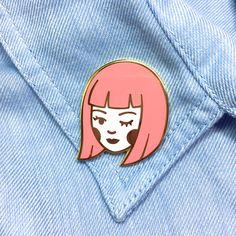 """Because you're feeling cute, bold, and don't care who knows it A little boost of confidence to wear on your lapel, jacket, or backpack! - 1.25"""" hard enamel pin - Cloisonné finish for a sleek, jewelr"""