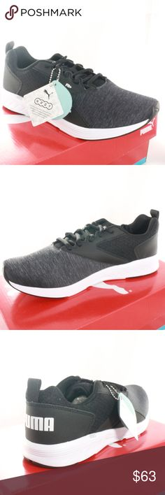 CLEARANCE SALE PUMA NRGY Comet Black Running Shoes All new running shoes 261831863