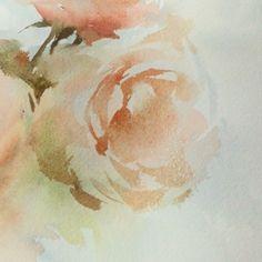 A short video for tonight! Nite nite my friends. :-) #watercolor #paint #painting #flowers #art #artist #work #artwork #rose #sweet