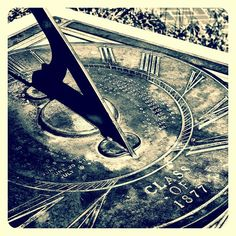 The Class of 1877 sundial. #cal