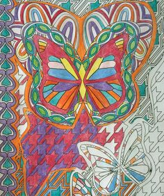 Free adult coloring page every month. The first page is butterflies from the super awesome coloring book by Mark Cesarik and edited by Jenean Morrison.