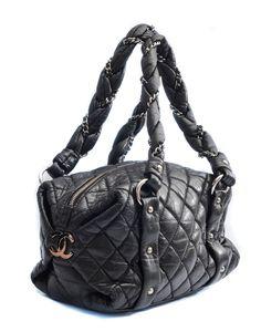 ebb05a0b0c33 Chanel Black Distressed Leather Lady Braid Small Shoulder Bag Small  Shoulder Bag, Distressed Leather,