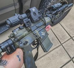"""""""NUBS"""" on Instagram: """"Those colors just POP! Tricam Green @triarc_systems_cerakote @eotech"""""""