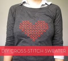 How to make a cross-stitch sweater! #DIY