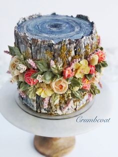 Gorgeous Cakes, Pretty Cakes, Amazing Cakes, Creative Pie Crust, Fresh Fruit Cake, Cake Piping, Cupcake Cakes, Cupcakes, Holiday Pies