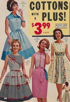 Dresses in the 1963 Summer National Bellas Hess catalogue.