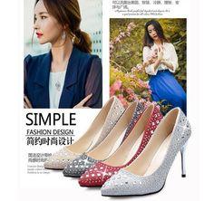 2016 Verão Coréia EUA novas Mulheres Da Moda PU de Couro Strass de Alta calcanhar saltos finos Sandálias boate vermelho Rasa Ouro prata em Sandálias das mulheres de Sapatos no AliExpress.com | Alibaba Group
