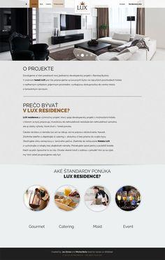 designed web page for real estate residence - light version