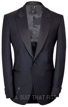 Black Two Piece Dinner Suit with a matching lining.