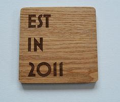 Personalised Engraved Wood Coasters Wedding by FlolliePopDesigns