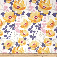 Joel+Dewberry+Atrium+Monarch+Slate from @fabricdotcom  Designed+by+Joel+Dewberry+for+Free+Spirit+Fabrics,+this+cotton+print+fabric+is+perfect+for+quilting,+apparel+and+home+decor+accents.+Colors+include+shades+of+pink,+gold,+white,+grey+and+blue.