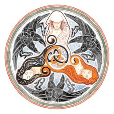 The Morrigan Triple Goddess Celtic Spiral Goddess Symbols, Celtic Goddess, Celtic Mythology, Goddess Art, Triple Goddess Symbol, Celtic Spiral, Celtic Art, Celtic Dragon, Celtic Symbols