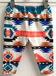 littlefour southwestern baby leggings NB 3M by littlefourclothing