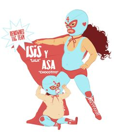 Illustration I did for a Nacho Libre birthday party. www.mitsyavilaovalles.com