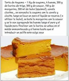 Torta de Auyama Wine Recipes, Dessert Recipes, Cooking Recipes, Desserts, Venezuelan Food, Deli Food, Pie Cake, Latin Food, Baking Tips