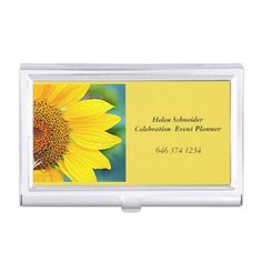 #professional - #BUSINESS CARD HOLDER SUNFLOWER EVENT PLANNER CASE FOR BUSINESS CARDS