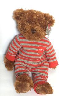 "FAO Schwarz Brown Teddy Bear in Pajamas PJs Plush Stuffed Animal 16"" NWT NEW    eBay"