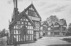 Park Hall. Oswestry, Shropshire - the house was demolished in 1918 due to damage caused by fire.