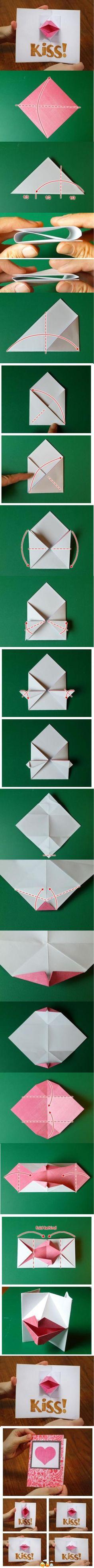 DIY kiss paper card