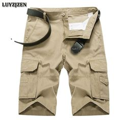 New Casual Shorts Men Cotton Men Cargo Shorts Multi-pocket Male Shorts High Quality