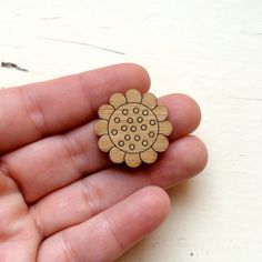 Dotty Daisy Bloom Pair Laser Cut Wooden by CraftyCutsLaser on Etsy