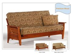 Full Size Siesta Premium Wood Futon Bed Package by Night & Day