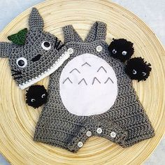 Free Shipping Crochet Totoro with Soot by SimplyDoneCrochet