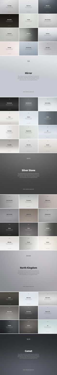 Created by LA-based designer, Vladimir Kudinov, Hue is a collection of 49 backdrops and gradients that lend atmosphere to layouts and product shots.  The collec