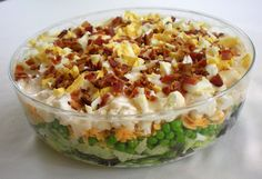 7 layer salad (this was my favorite thing to make for potlucks growing up- get creative!)