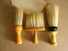 Antique Neck Dusters Vintage Brushes by RollingHillsVintage