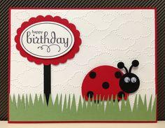 Ladybug Punch Art Stampin' Up Birthday Card Kit 5 Cards | eBay
