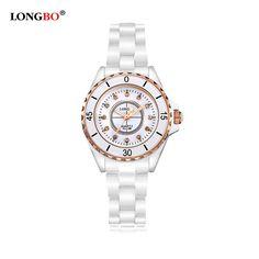 >> Click to Buy << LongBo 2017 New Woman Man Ceramics Wristwatch Diamond Rose Gold Case Watch Ladies Men Lovers Quartz Watch  #Affiliate