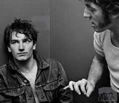 A young Bono and Bruce Springsteen...i kind of wanted to crop out bruce