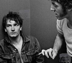 A young Bono and Bruce Springsteen...                                                                                                                                                                                 Más
