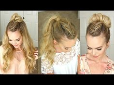 Take your favorite style up a notch with a Dutch fishtail mohawk braid. Whether you love the half up bun or a more simple ponytail, adding an accent braid can take your hairstyle to that next level. I love this look for wearing everyday and… New Hairstyle Video, Bun Hairstyles For Long Hair, Holiday Hairstyles, Headband Hairstyles, Pretty Hairstyles, Braided Hairstyles, Hairstyles 2018, Protective Hairstyles, Braided Updo
