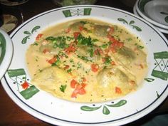 Olive Garden Copycat Recipes: Ravioli Di Portobello ( cream instead of milk in sauce)