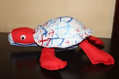 Anchors away blue and red stuffed sea by Sewmanydeals on Etsy