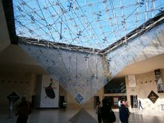 The other side of I.M Pei's glass pyramid at the Louvre. Exit at Metro Palais-Royal–Musée du Louvre, and use the connected underground entrance to skip the lines outside.