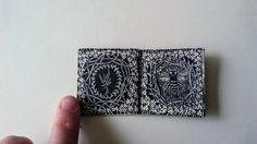 Teeny altered book made from paper scraps, Isobelle Ouzman.