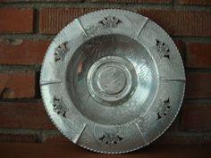Vintage Hammered  Aluminum Serving Bowl 1950s by CoolFindsShoppe
