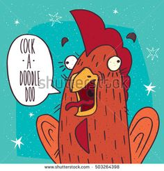 stock-vector-close-up-of-cartoon-funny-cock-or-rooster-with-her-mouth-open-screaming-cock-a-doodle-doo-symbol-503264398.jpg (450×470)