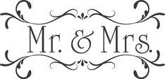 Wedding Mr.& Mrs.Custom Wall Decor Words Vinyl by astickyplace