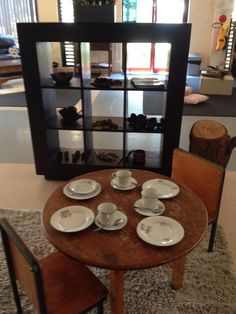 Beautiful kitchen using real plates, cups and spoons - Image shared by Renee Smith ≈≈